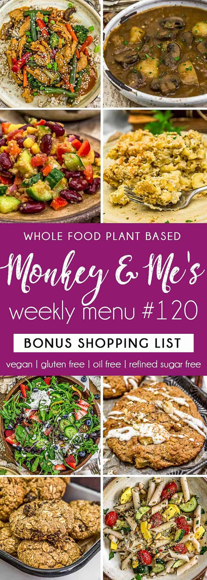Monkey and Me's Menu 120 featuring 8 recipes