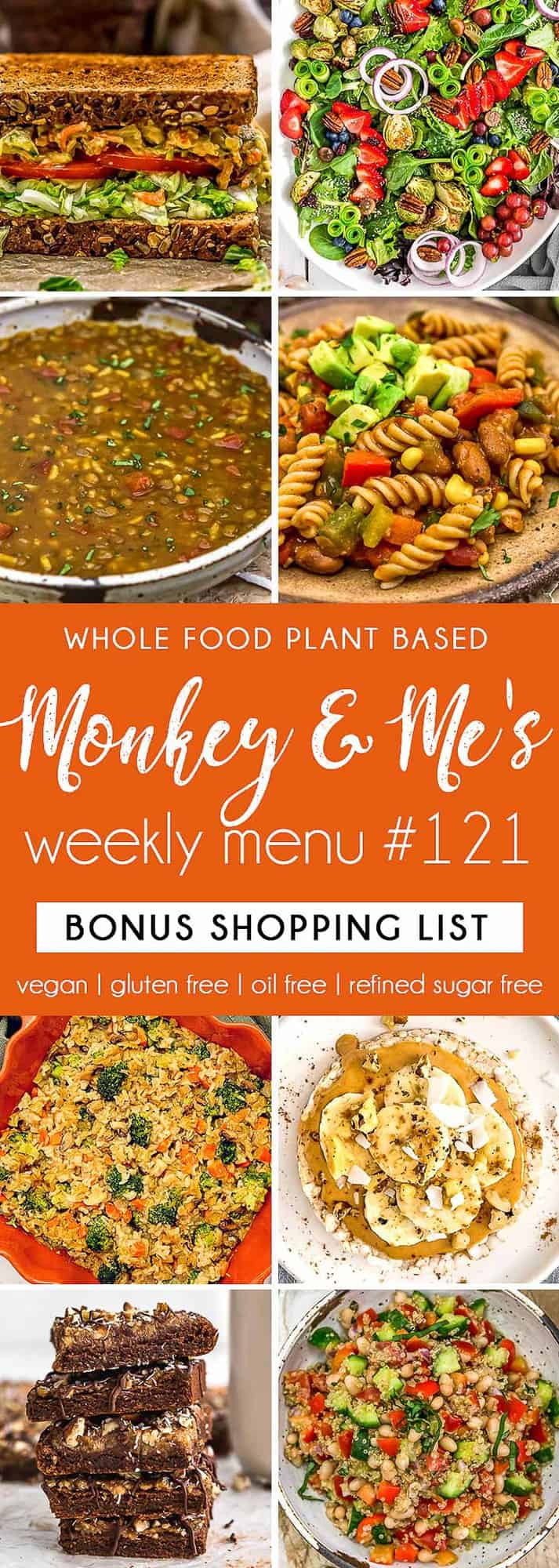 Monkey and Me's Menu 121 featuring 8 recipes