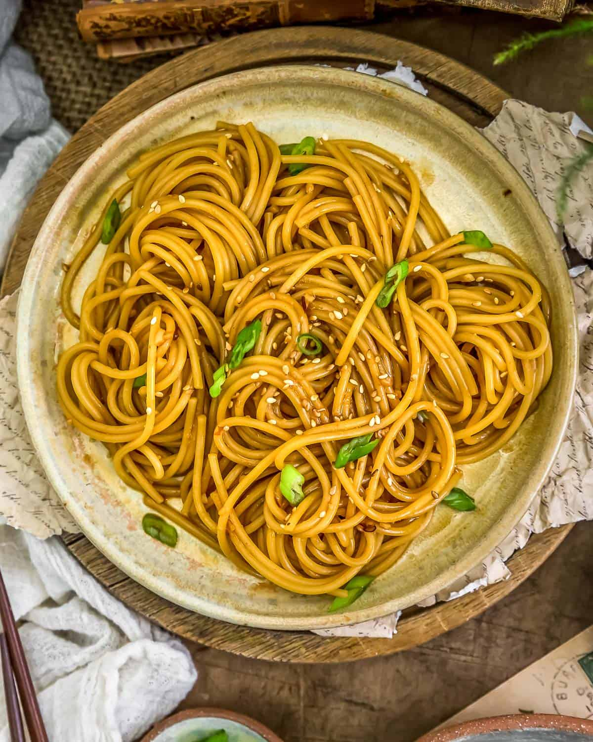 Plate of Oil-Free Hibachi Noodles