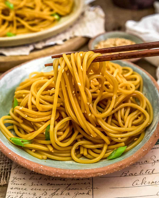 Eating Oil-Free Hibachi Noodles