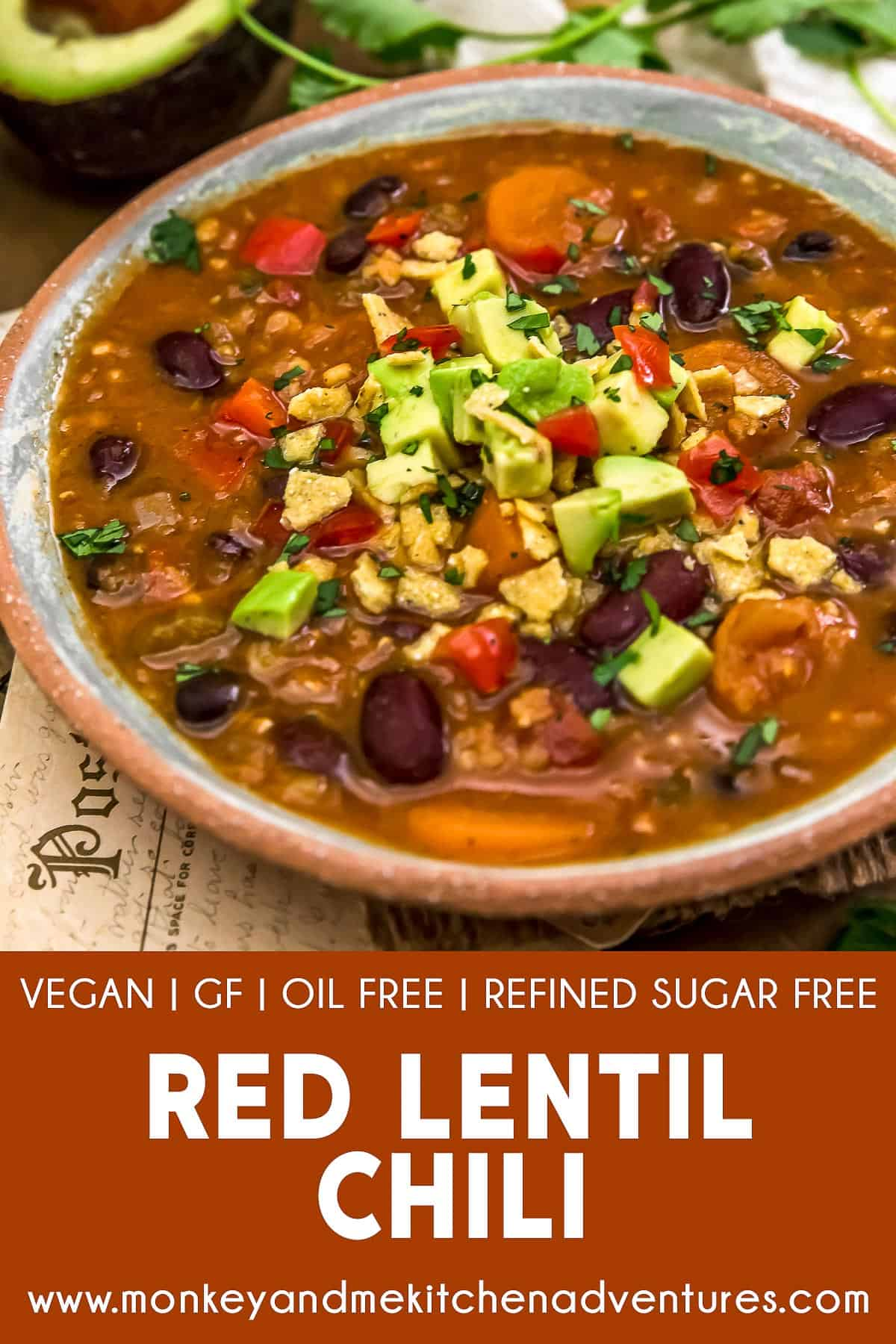 Red Lentil Chili with text description