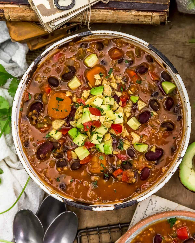 Bowl of Red Lentil Chili