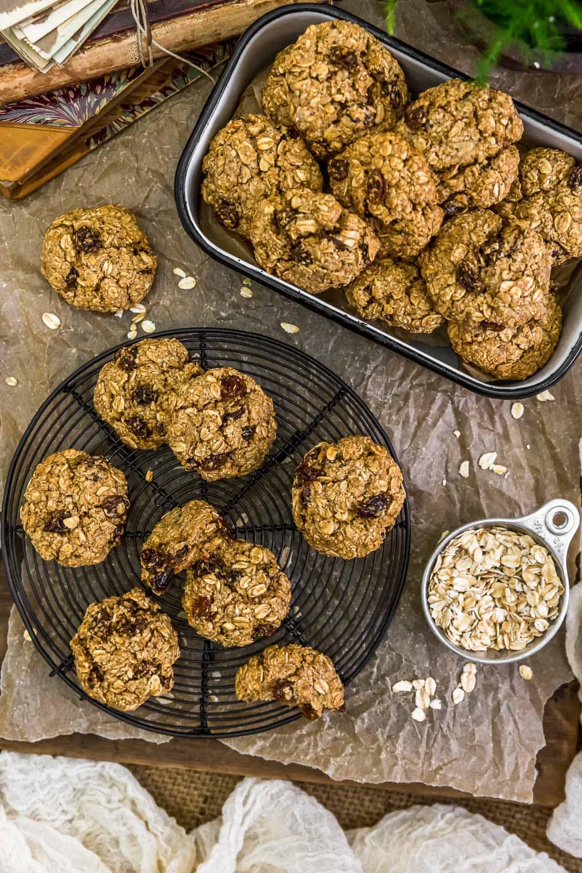 Tablescape Vegan Crispy Oatmeal Cookies