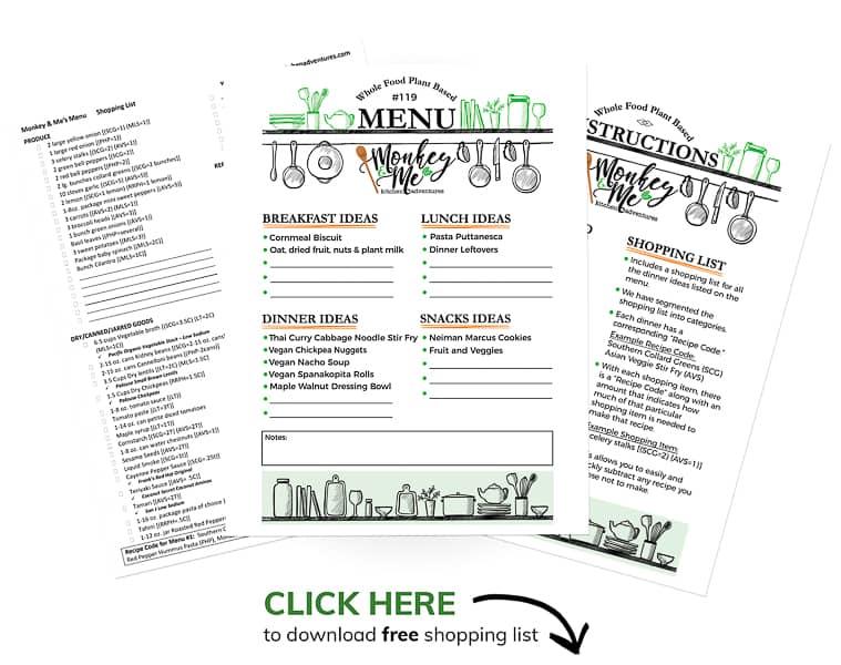 Monkey and Me's Menu 119 PDF Display