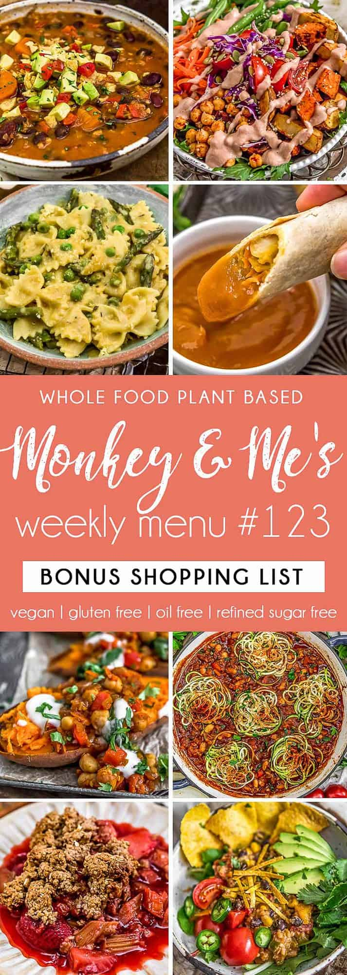 Monkey and Me's Menu 123 featuring 8 recipes