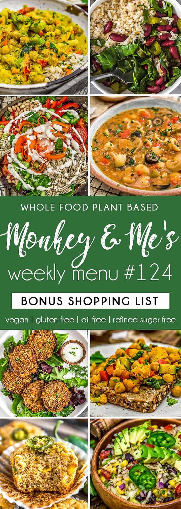 Monkey and Me's Menu 124 featuring 8 recipes