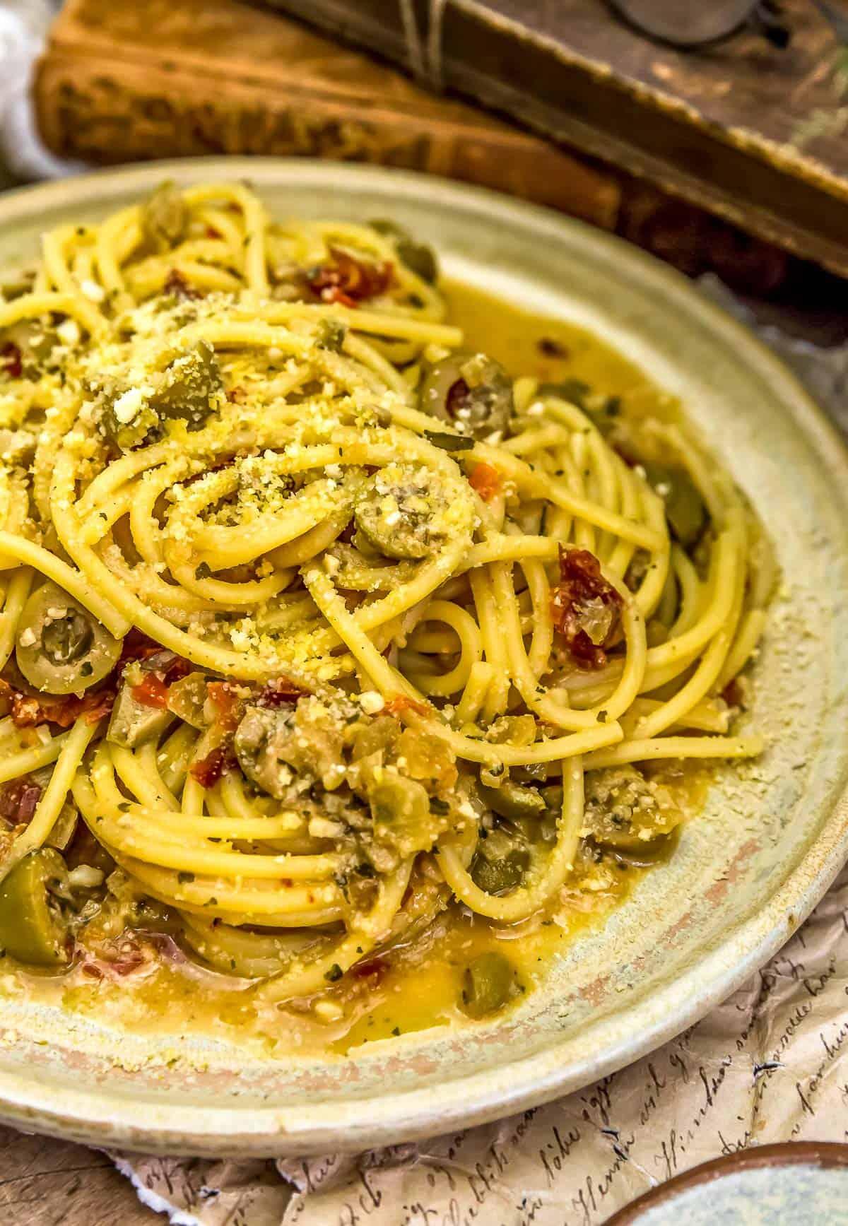 Plate of Spaghetti alla Siciliana