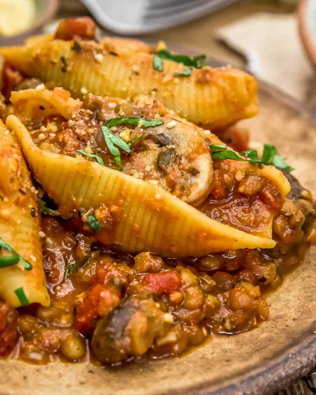 Unstuffed Spicy Tomato Basil Shells