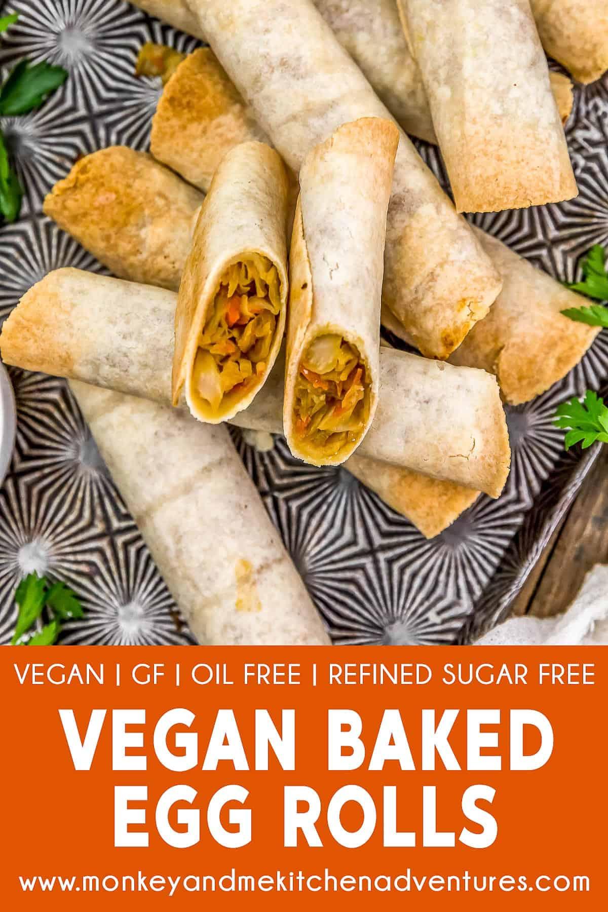 """Vegan Baked """"Egg"""" Rolls"""