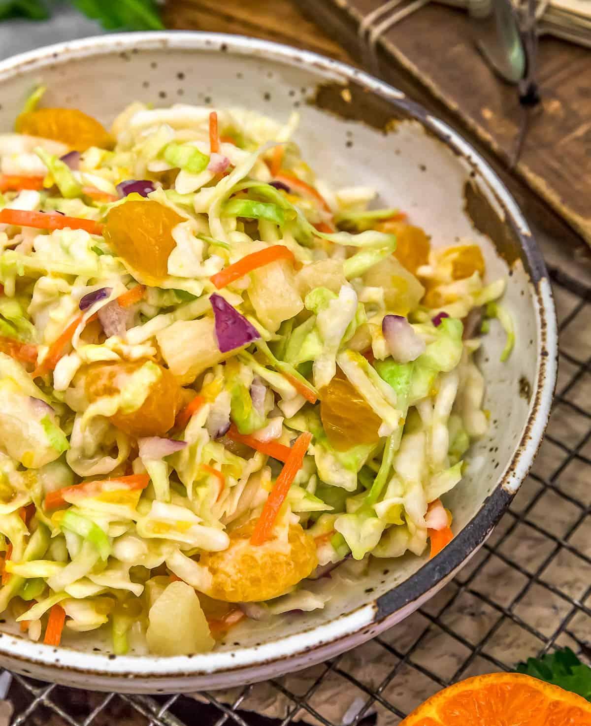 Bowl of Vegan Tropical Coleslaw