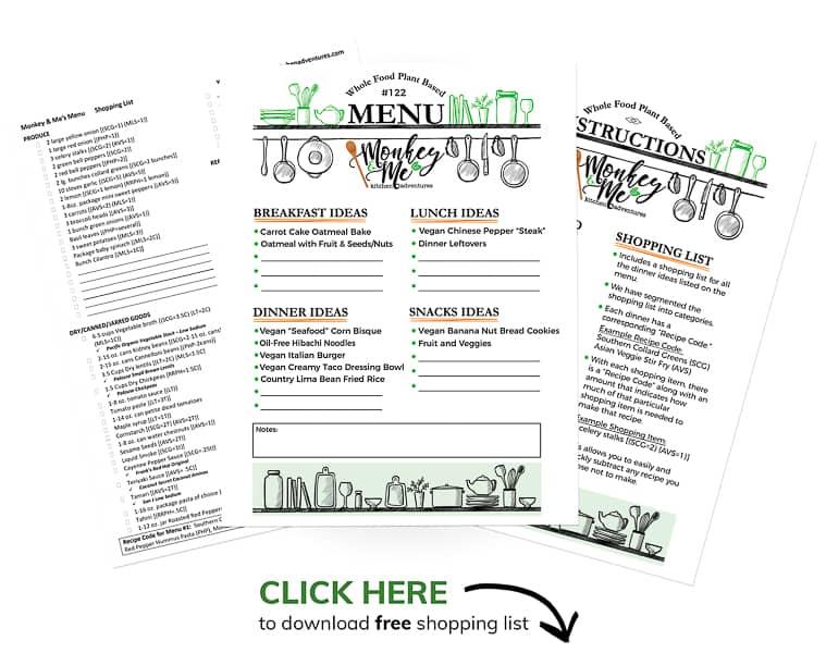 Monkey and Me's Menu 122 PDF Display