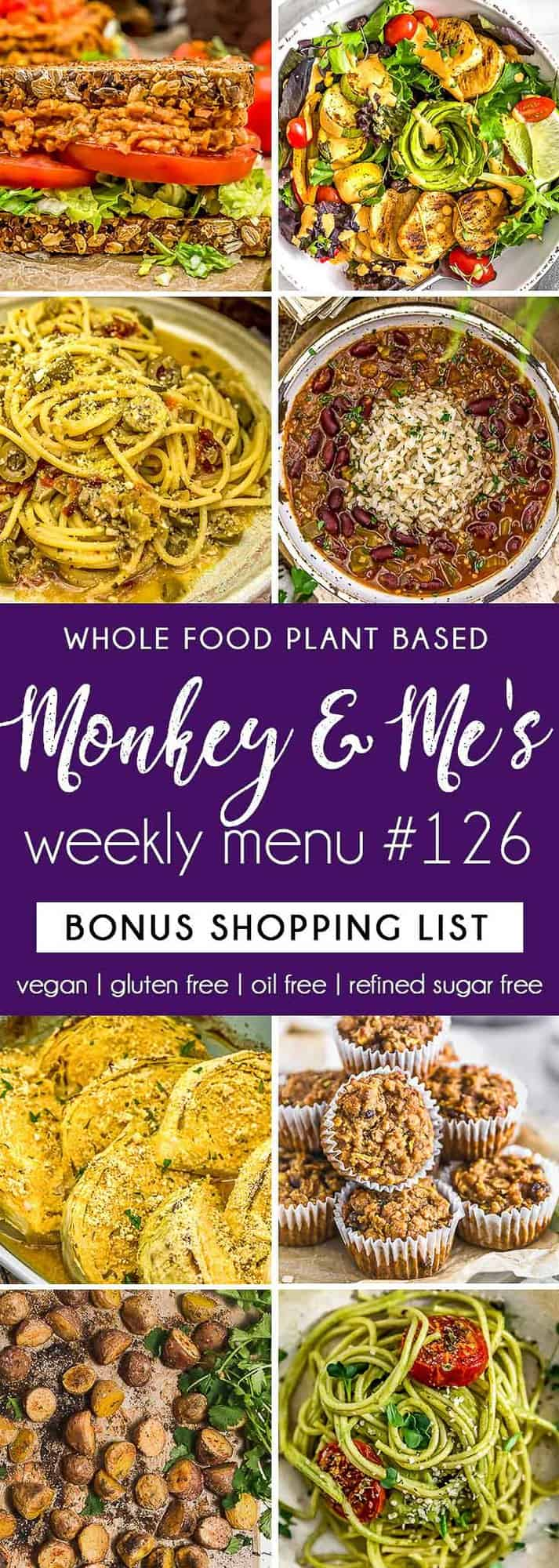 Monkey and Me's Menu 126 featuring 8 recipes