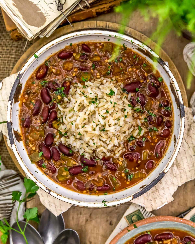 Bowl of Vegan Creole Beans