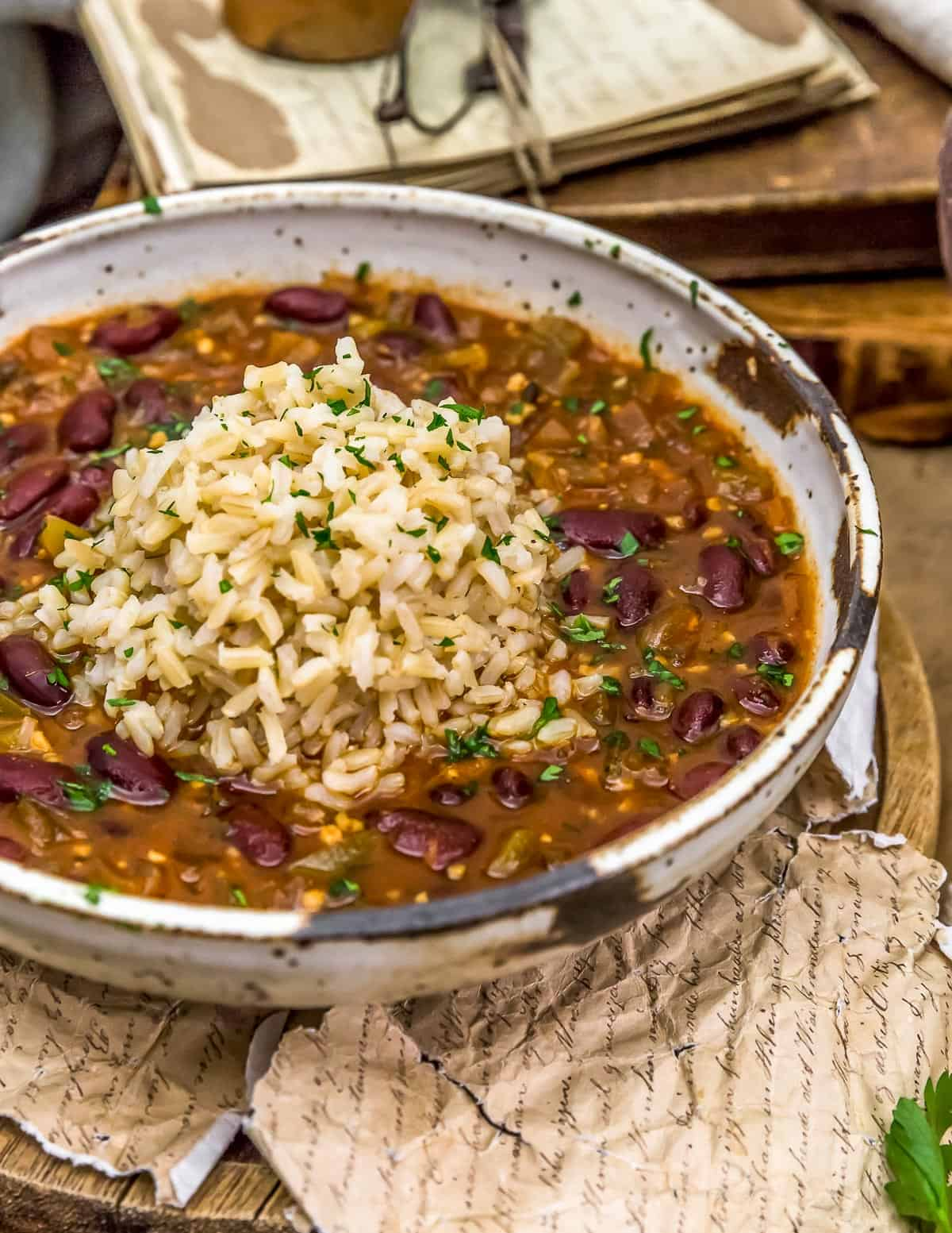 Vegan Creole Beans in a bowl