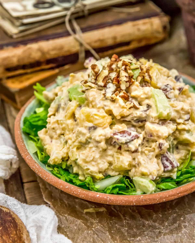 Close up Vegan Pineapple Chickpea Salad
