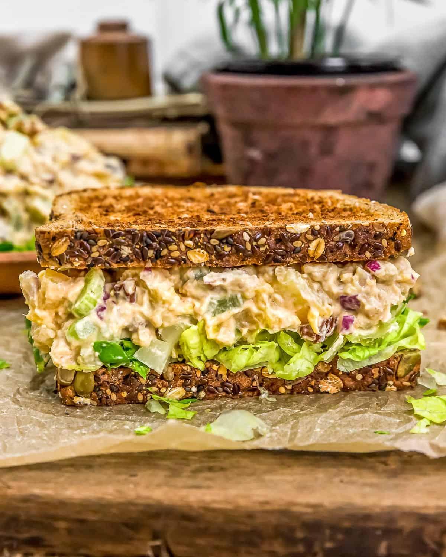 Vegan Pineapple Chickpea Salad Sandwich