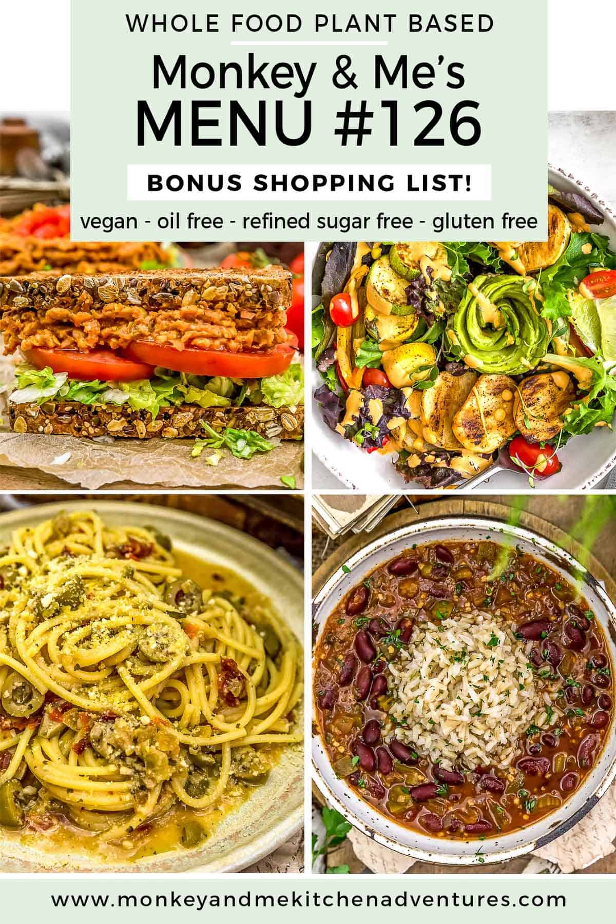 Monkey and Me's Menu 126 featuring 4 recipes