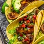 Close up of Chipotle Mushroom Tacos