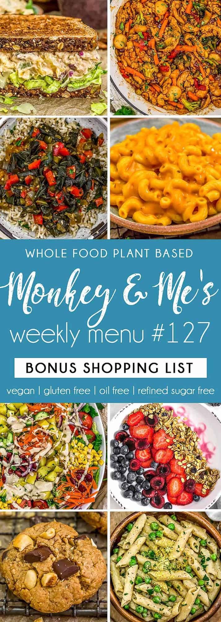 Monkey and Me's Menu 127 featuring 8 recipes