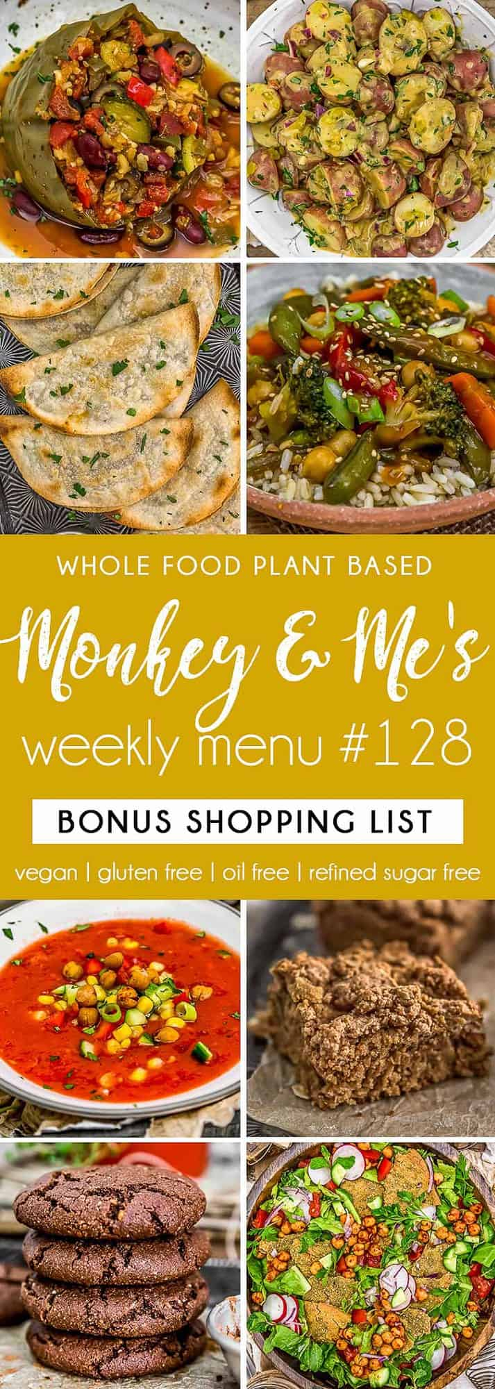 Monkey and Me's Menu 128 featuring 8 recipes