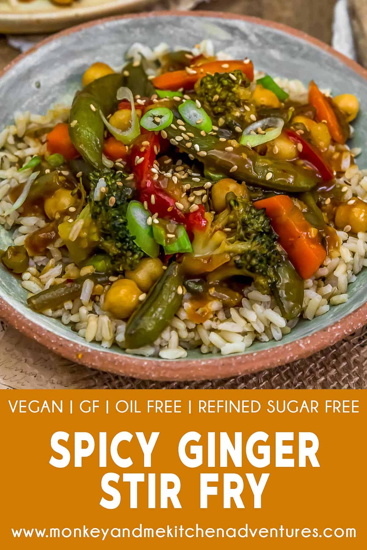 Spicy Ginger Stir Fry with Text Description