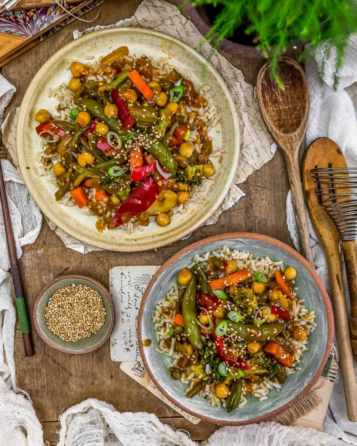 Tablescape Spicy Ginger Stir Fry