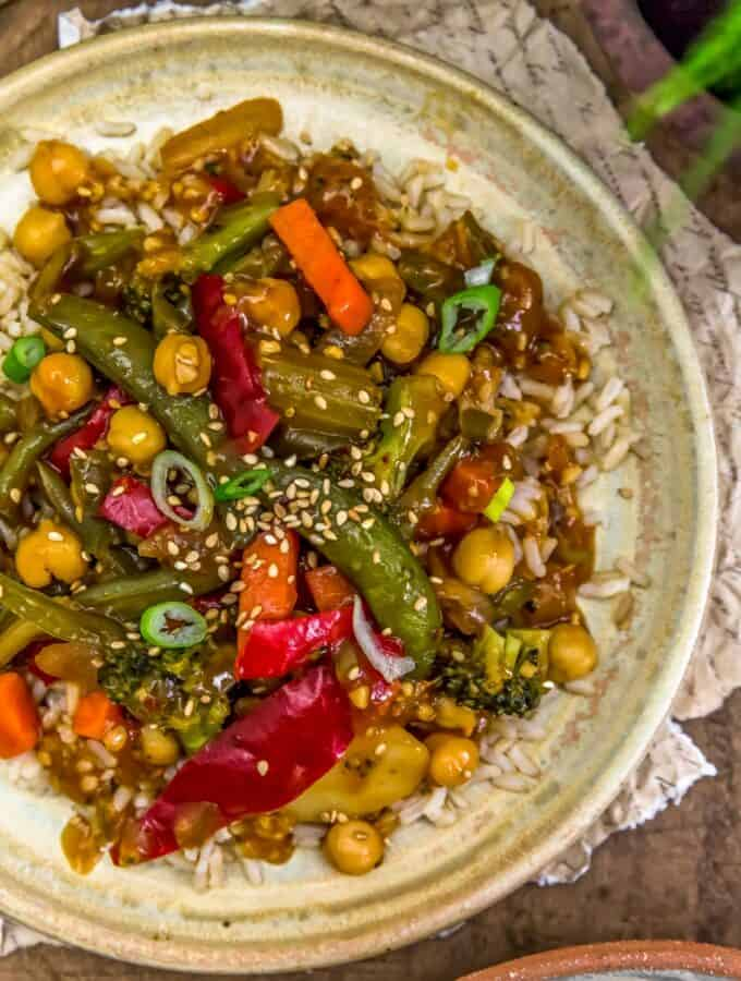 Close up of Spicy Ginger Stir Fry