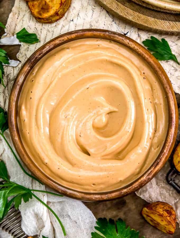 Bowl of Vegan Fry Sauce