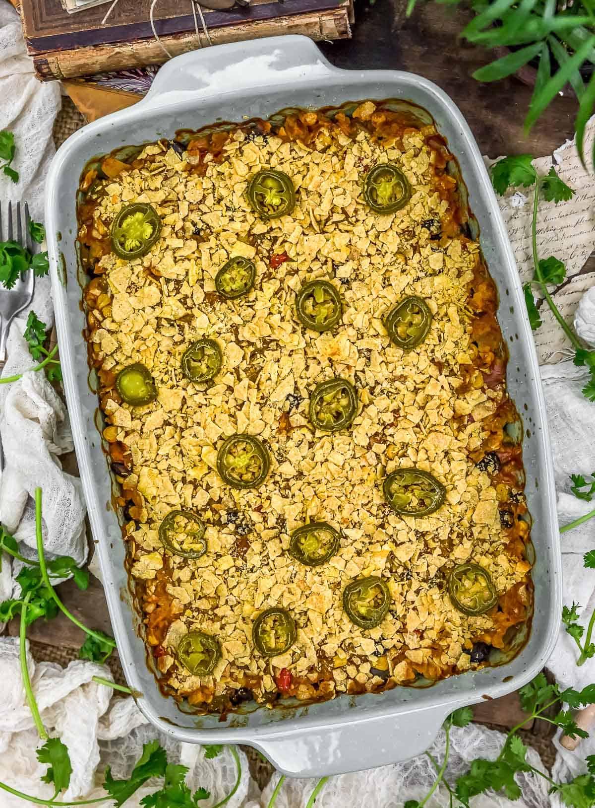 Vegan Tex-Mex Cabbage Casserole
