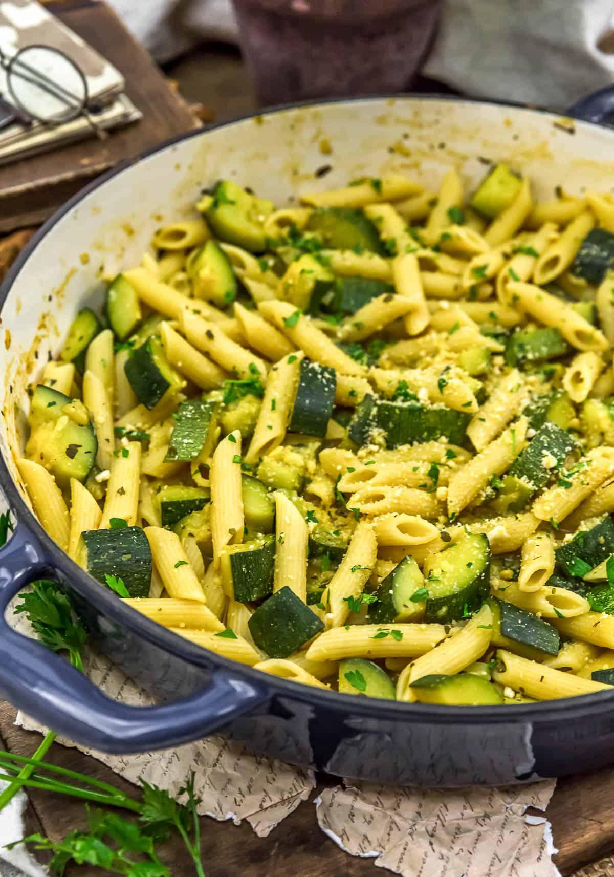 Close up of Easy Zucchini Pasta
