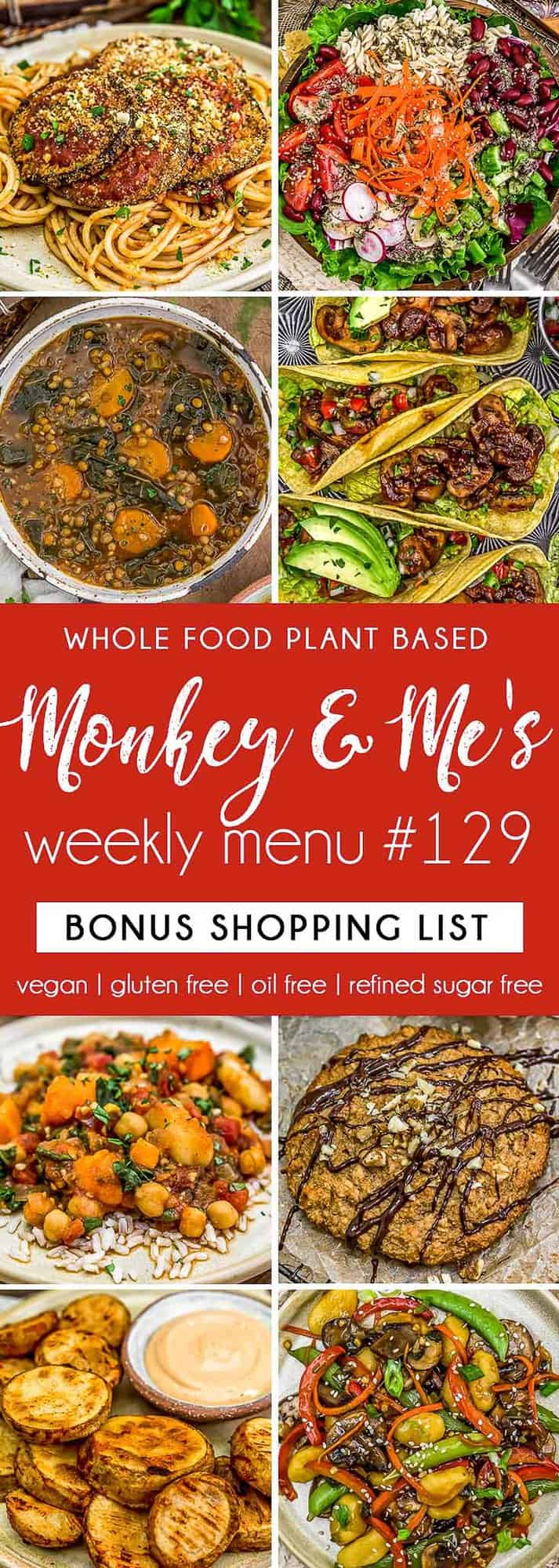 Monkey and Me's Menu 129 featuring 8 recipes
