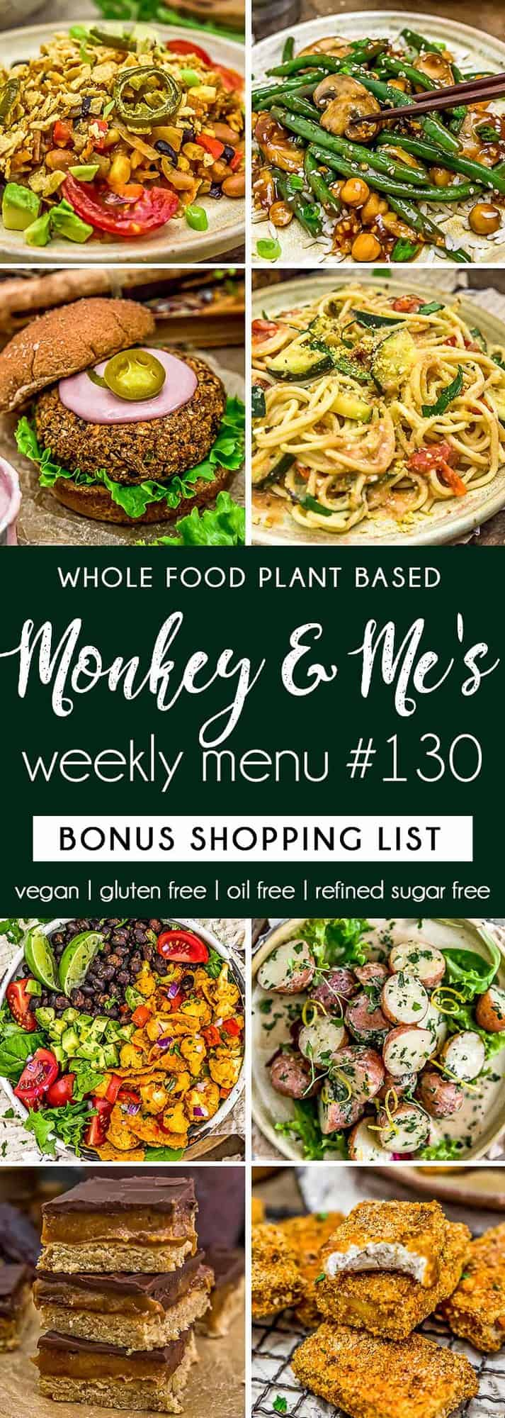 Monkey and Me's Menu 130 featuring 8 recipes