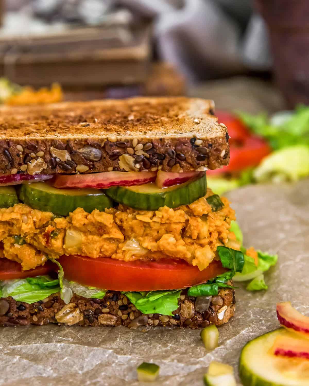 "Half a Vegan ""Ham"" Salad Sandwich"