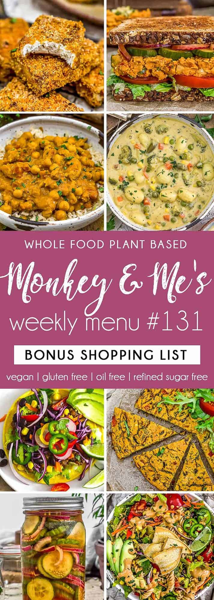 Monkey and Me's Menu 131 featuring 8 recipes