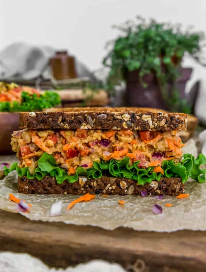Moroccan Chickpea Salad Sandwich