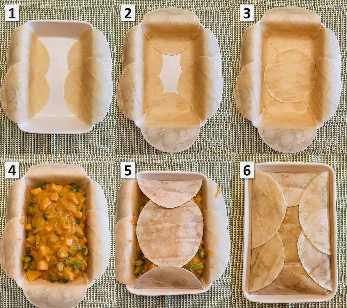 Vegan Cheesy Potato and Broccoli Pot Pie Wrap Steps