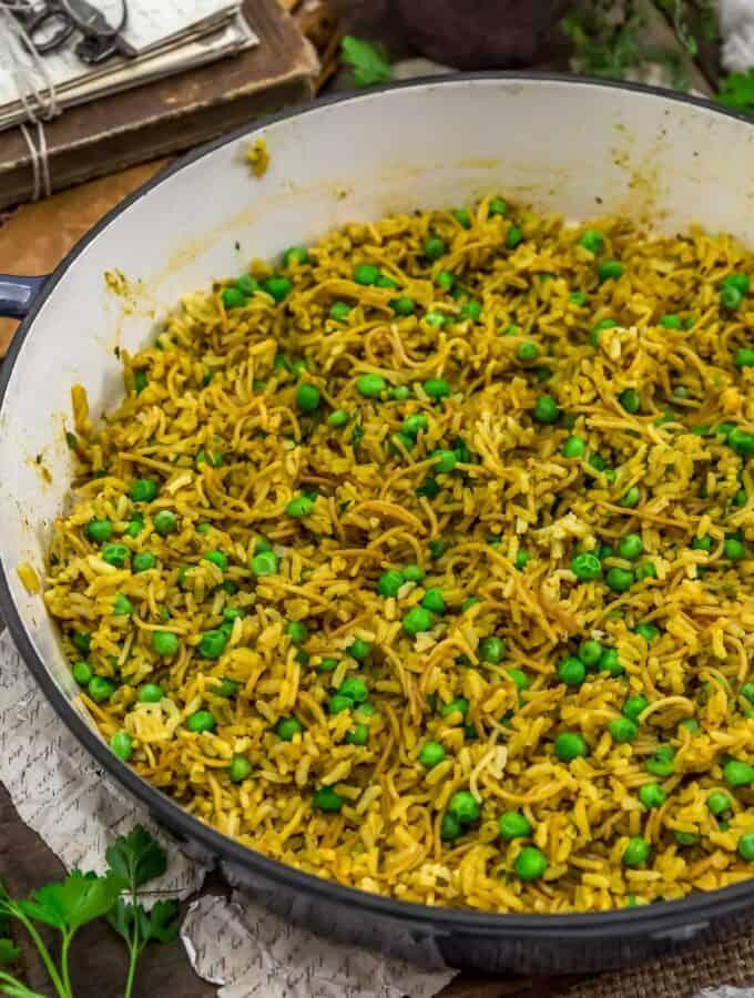Skillet of Vegan Rice-A-Roni