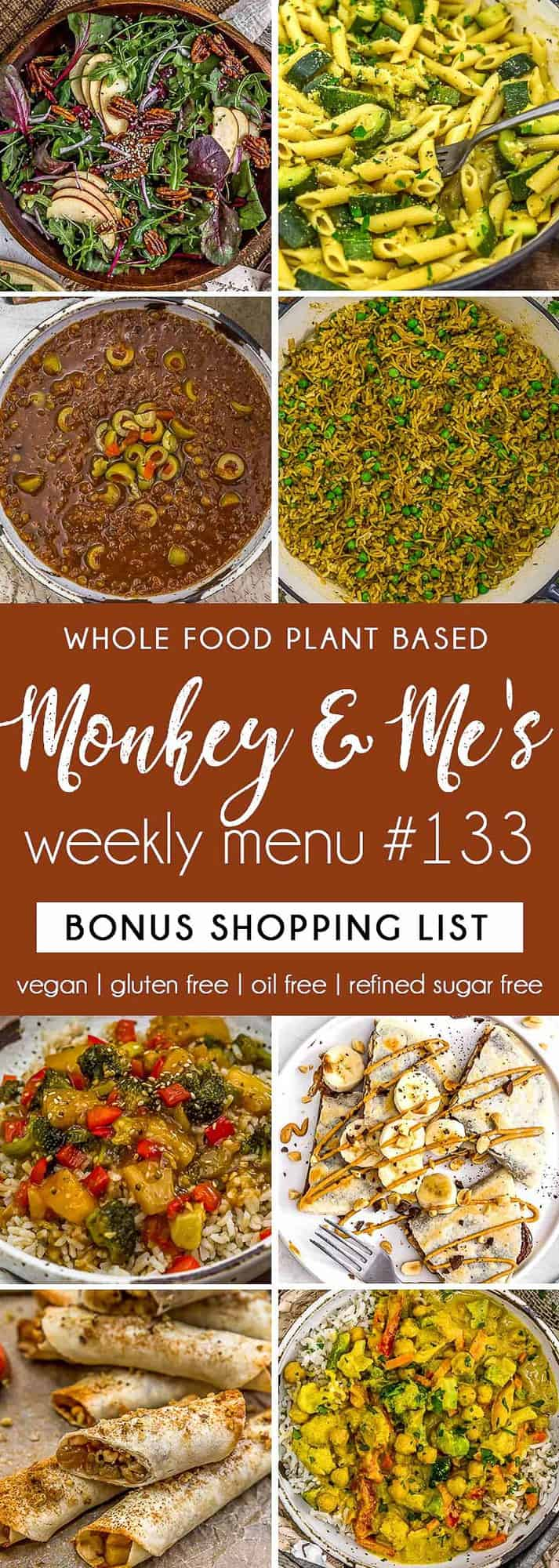 Monkey and Me's Menu 133 featuring 8 recipes