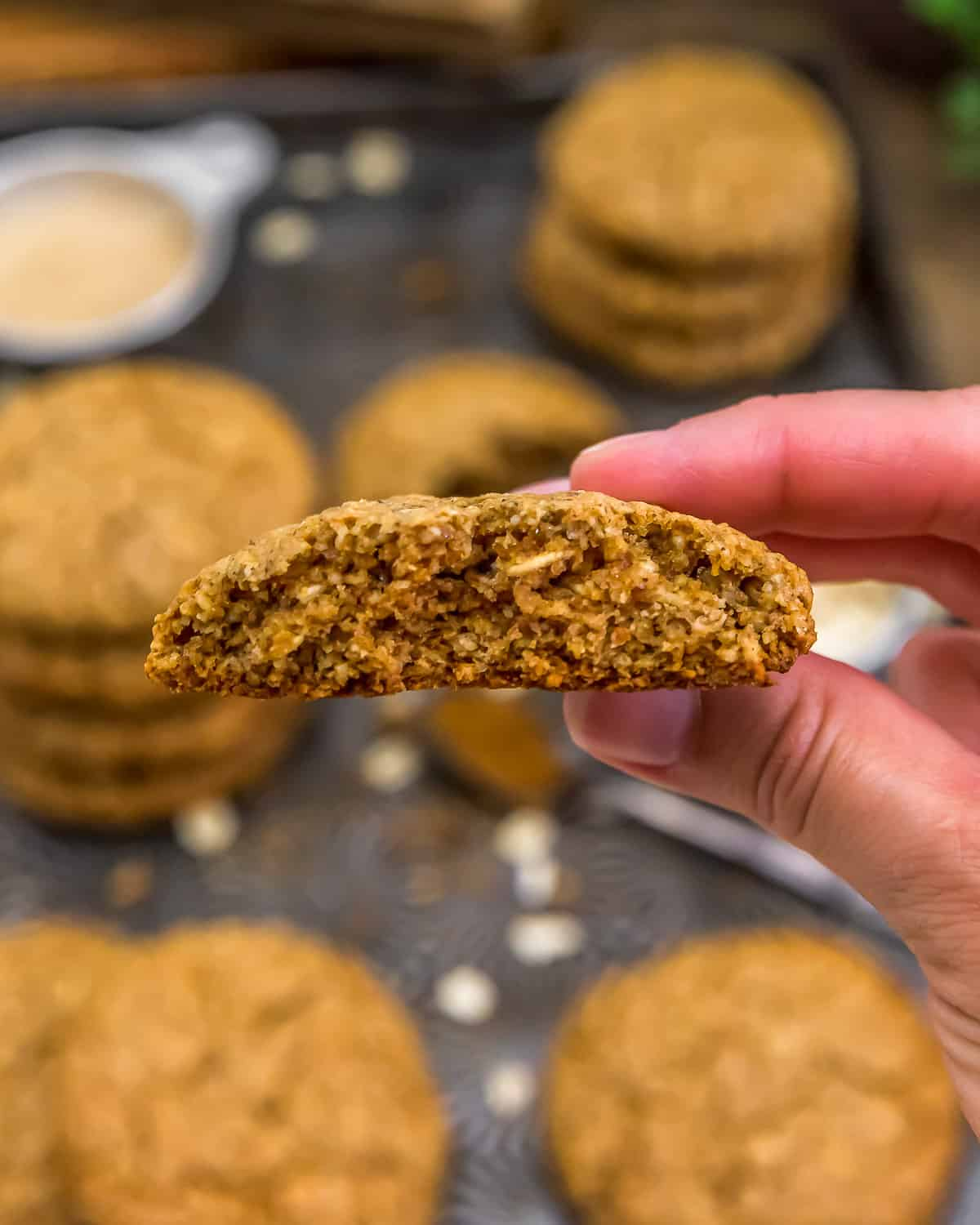 Eating an Old-Fashioned Pumpkin Spice Oatmeal Cookie