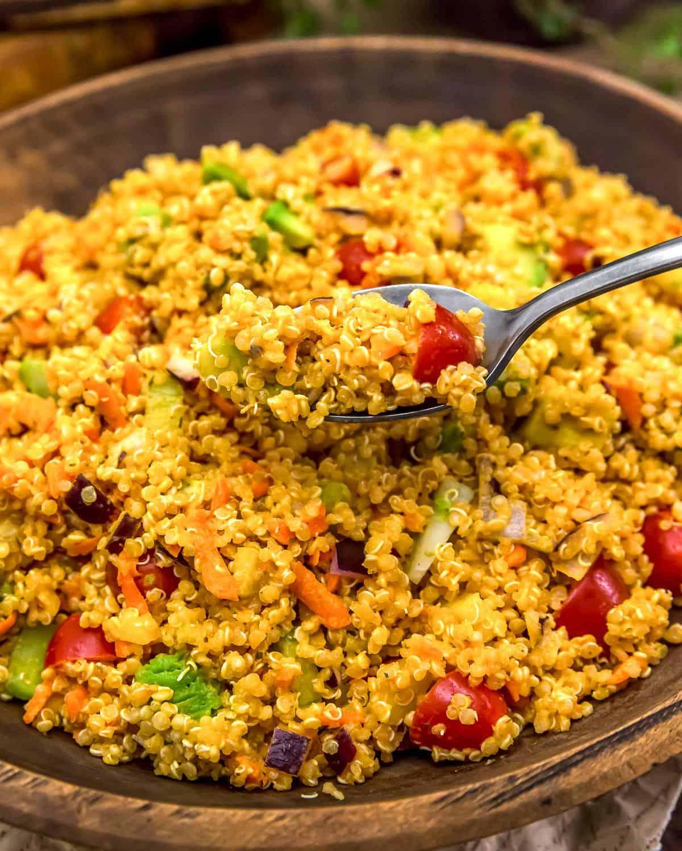 Vegan Buffalo Quinoa Salad